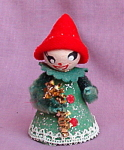 Vintage Japan Spun Cotton Chenille Elf Christmas