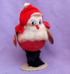 Vintage Japan Spun Cotton Santa Claus W/cymbals