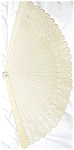Superb Art Deco Ivory Colored Celluloid Lace Fan