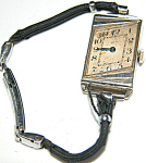 Unusual Art Deco Elgin Angular Woman's Wrist Watch
