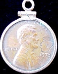 1973 Lincoln Penny W Kennedy Imprint Pendant