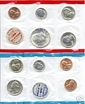 1969 United States Mint Uncirculated 10 Coin Set