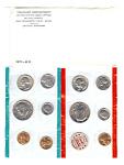 1971 Us Mint Coin Set Uncirculated Unc