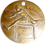 Old Bronze Sports Track Medal French Belgian