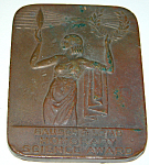 Antique Bronze Bauch & Lomb Science Award Plaque