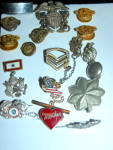 Cool Antique Vintage Us Military Lapel Pin Collection Ww2 Era