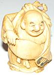 19th C Chinese Ivory Miniature Buddha Statue Figure
