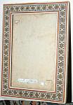 Antique Persian Inlay Frame W Bone & Star Design