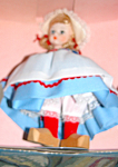 1970s Madame Alexander 8in Netherlands Girl Doll Mib