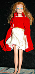 1964 Titan Skipper In Orig Red Velvet Dress &coat
