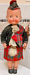 Superb 1950s Roddy Scottish Bagpipe Boy Walker Doll
