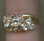 18k Gold Filled And Cz Cubic Zirconia Ring
