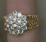 Cubic Zirconia Super Bling Costume Jeweley Ring