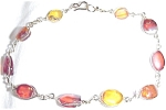 Delicate Genuine Raw Amber Gold Wire Bracelet