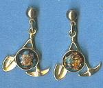 Rainbow Flake Miners Motif Pierced Earrings