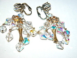 Superb Vintage Austrian Crystal Chandelier Earrings