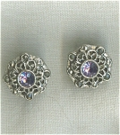 Contemporary Purple/blue Rhinestone Earrings