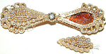 Antique Edwardian Rose Gold Diamond Seed Pearl Brooch