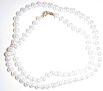 Lusterous Vintage 16in Genuine Cultured Pearl Necklace