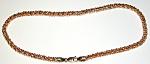 Unusual 10k Gold Ornate Link Anklet Bracelet
