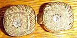 Unusual Victorian Paste Gold Filled Cufflinks