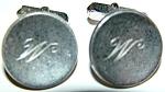Vintage Sterling Silver Swank M Or W Initial Cufflinks