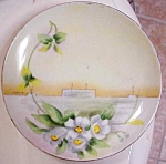 Antique Signed Handpainted Everett Studio Floral Plate