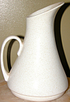 1950s Retro Modernist White Speckled Water Pitcher