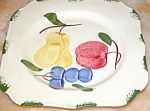 Vintage Blue Ridge Pottery Dessert Plate Fruit Motif