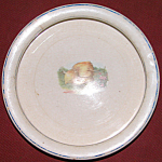 Adorable Early Antique Baby Dish W Little Chick N Worm
