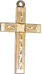 Lovely Little Art Deco Gold Filled Cross Pendant