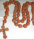Very Large Old French Carved Wooden Nun's Rosary