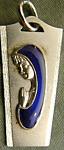 Vintag Retro Virgin Mary Madonna Silver Enamel Pendant