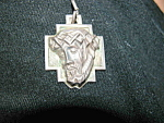 Vintage Sterling Silver Jesus Crown Of Thorns Pendant
