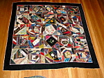 Rare Antique Victorian Quilting Bee Contest Crazy Quilt