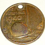 1940 Ny World's Fair George Washington Medallio