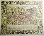 Charta Of Roma Xvi Century Engraving (Rome) Map Print
