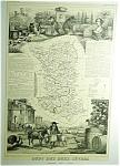 Dept Des Deux Sevres France By V. Levasseur Map Print