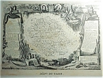 Dept Du Tarn France By V. Levasseur Map Print