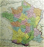 Carte De La France By A. Brue Map Print