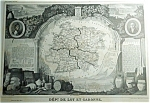 Dept De Lot Et Garonne By V. Levasseur (Paris) Map Print