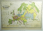 Carte De Geologique D'europe By Th. Lejeune Map Print