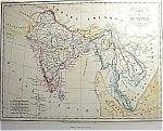 Carte De L'inde By Th. Lejeune (C1836) Map Print
