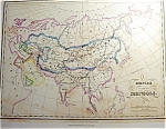 Empire Des Mongols By Th. Lejeune Map Print