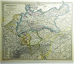 Germany By Justus Perths (C1869) Map Print