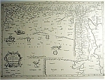 Map Of Africa-libya Engraving Xvii Century Map Print