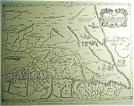 Map Of Asia Engraving Xvii Century Map Print