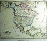 North America By F. Von Stulplogel (C1868)