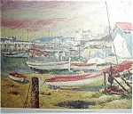 Fishing Village Print By Casals