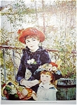 On The Terrace C1881 By Renoir